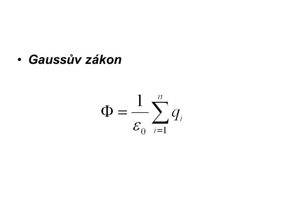 Gaussův zákon není třeba se předchozím integrálem zabývat, bo se nám krásně zjednodušší.