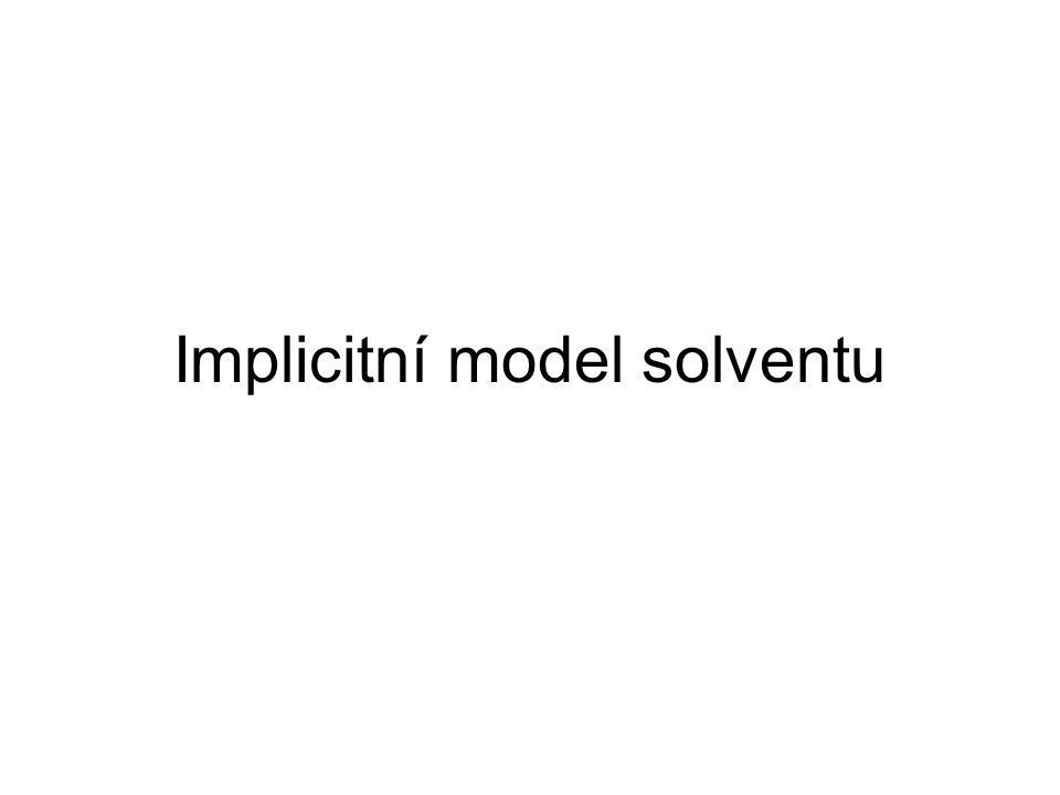 Implicitní model solventu