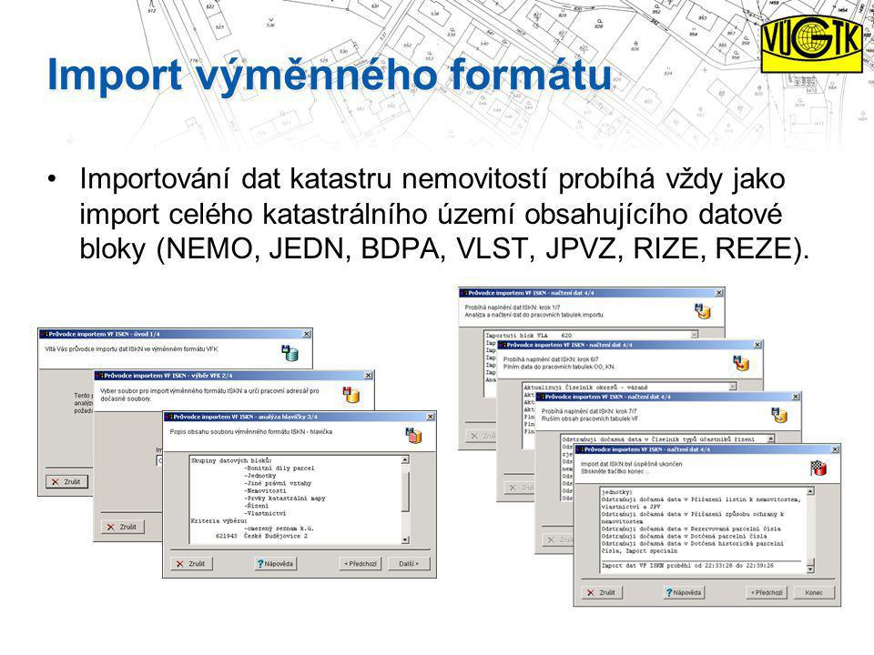 Import výměnného formátu