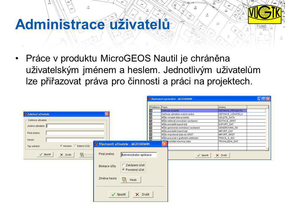 Administrace uživatelů