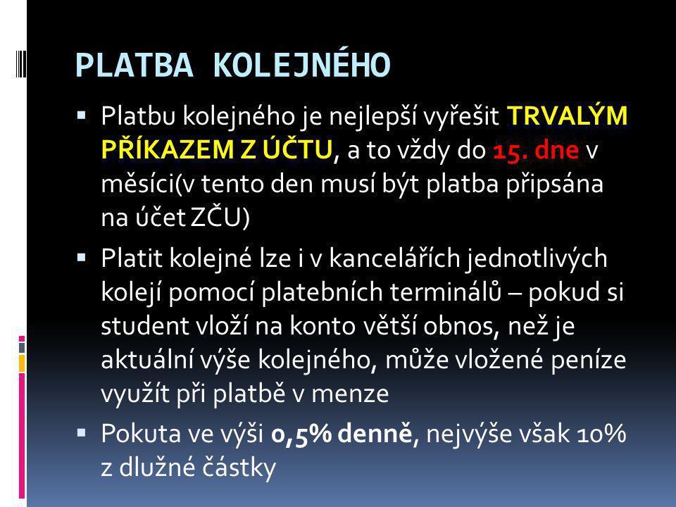 PLATBA KOLEJNÉHO