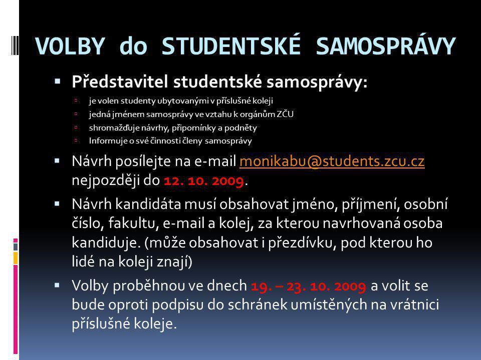 VOLBY do STUDENTSKÉ SAMOSPRÁVY