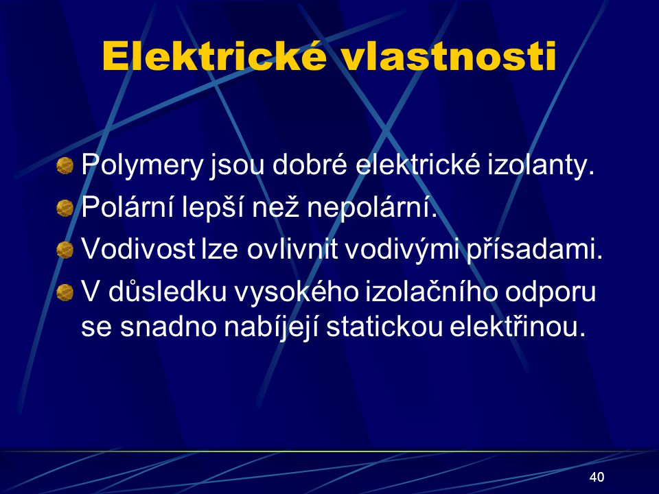 Elektrické vlastnosti