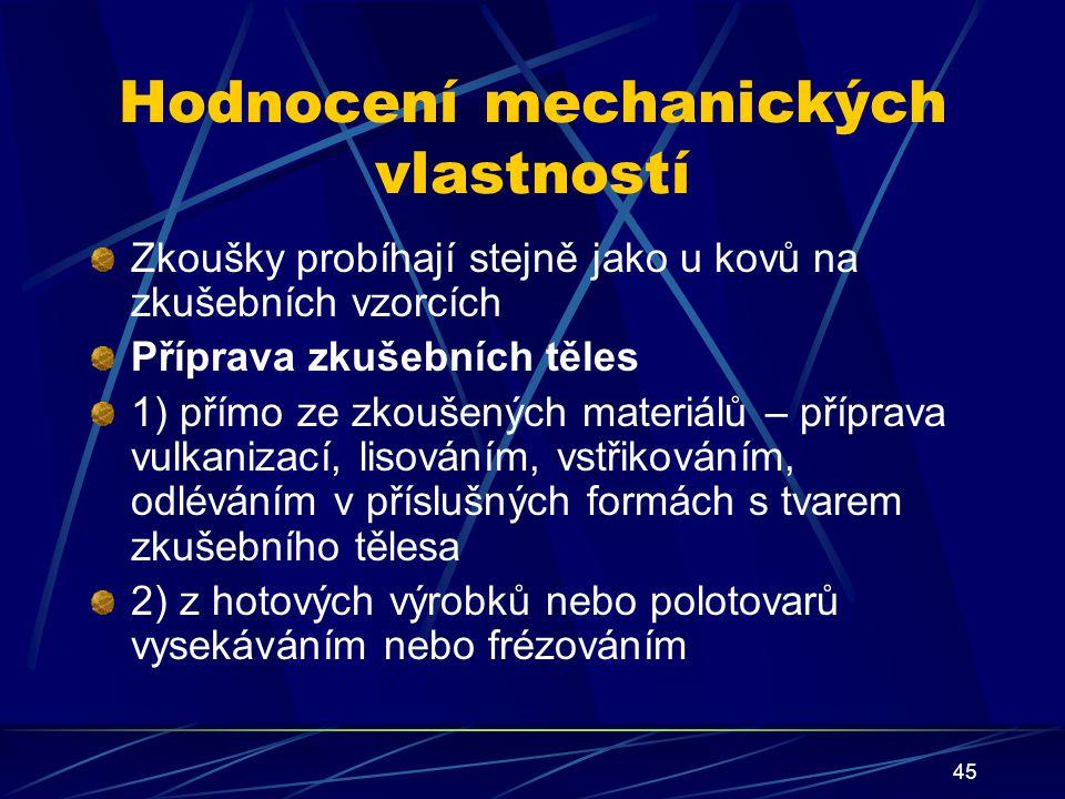 Hodnocení mechanických vlastností