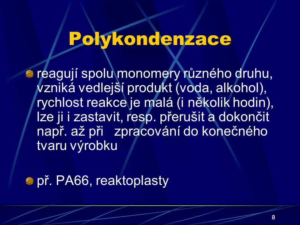 Polykondenzace