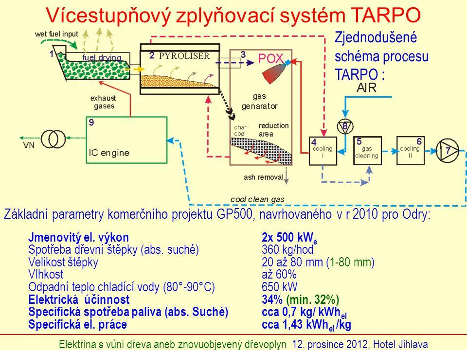 Vícestupňový zplyňovací systém TARPO