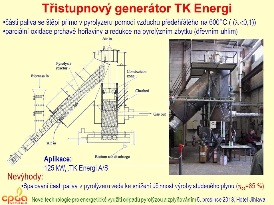 Třistupnový generátor TK Energi