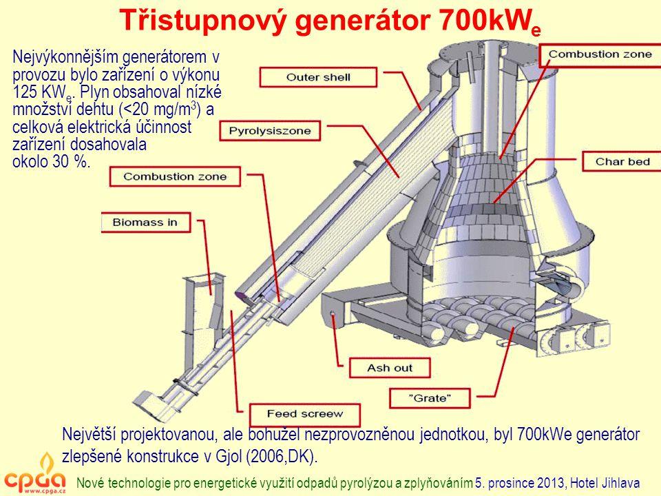 Třistupnový generátor 700kWe