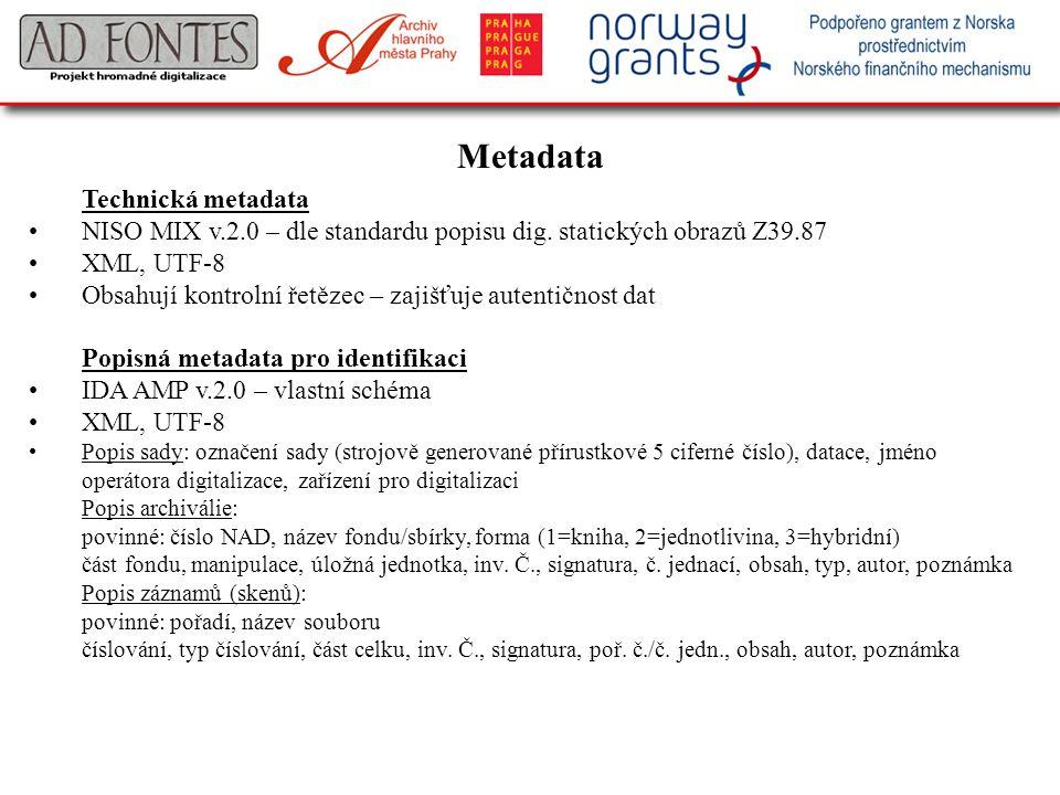 Metadata Technická metadata