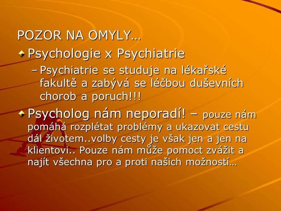 Psychologie x Psychiatrie