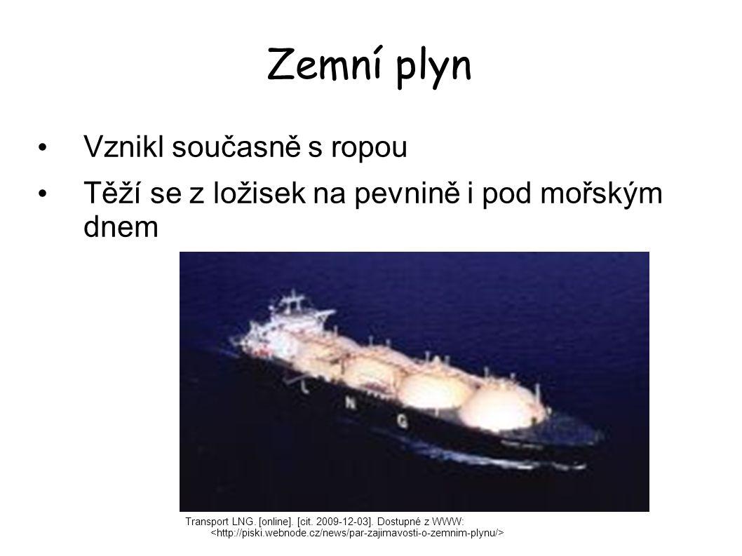 Zemní plyn Vznikl současně s ropou