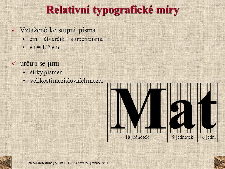 Relativní typografické míry