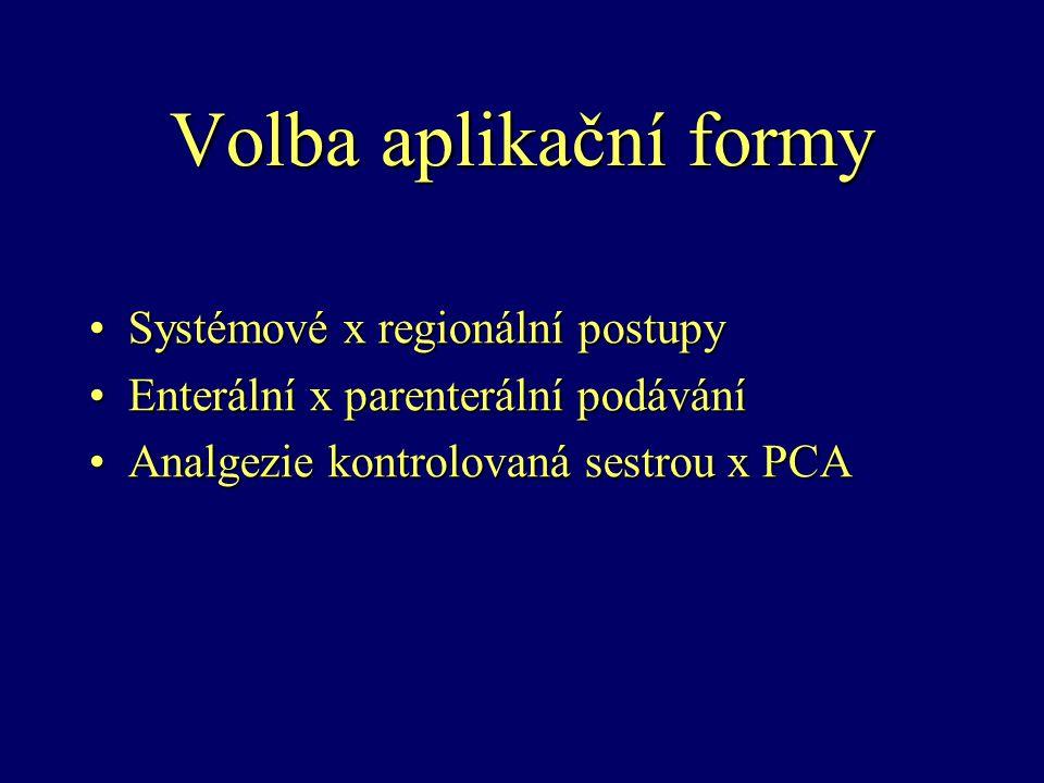 Volba aplikační formy Systémové x regionální postupy