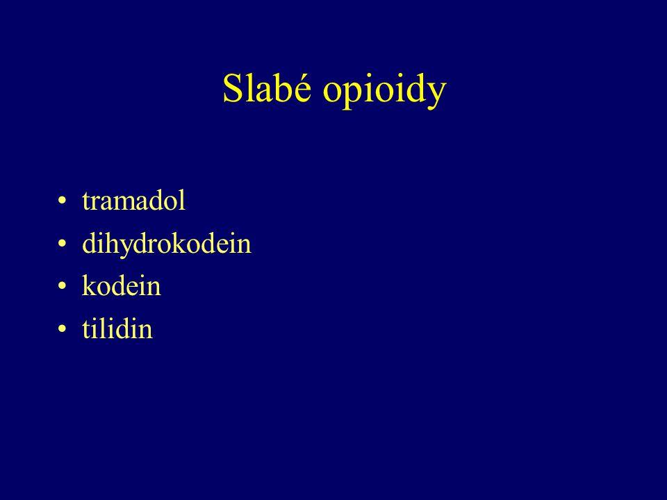 Slabé opioidy tramadol dihydrokodein kodein tilidin