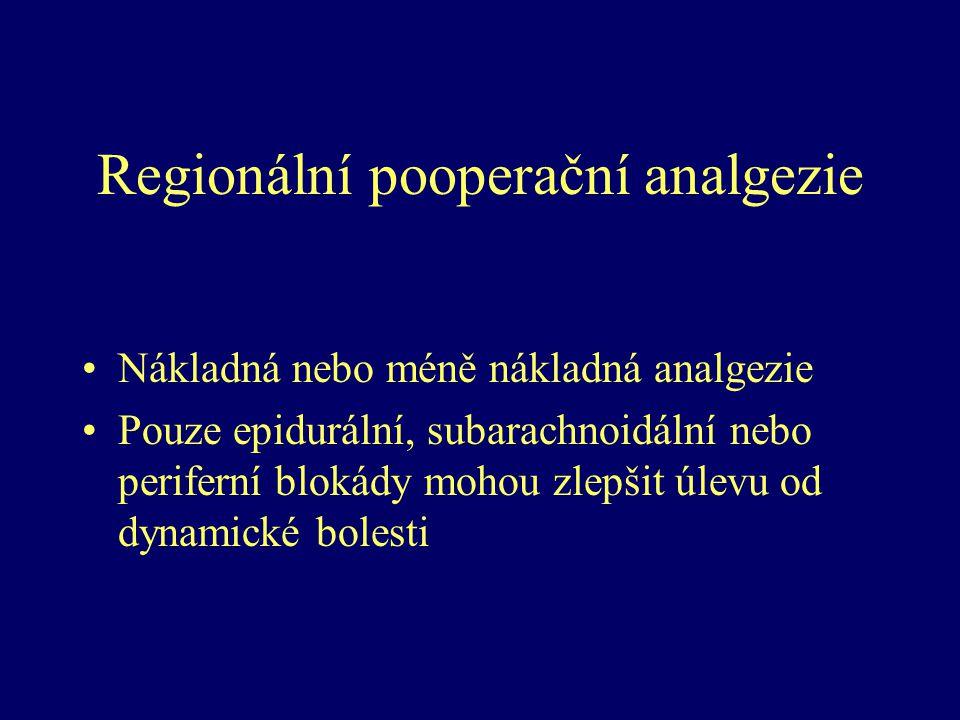 Regionální pooperační analgezie