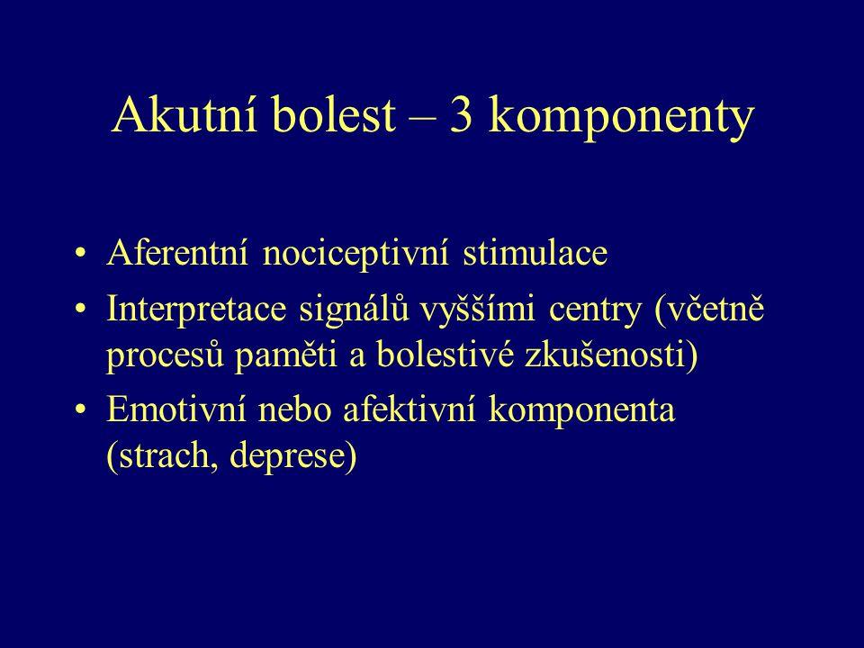 Akutní bolest – 3 komponenty