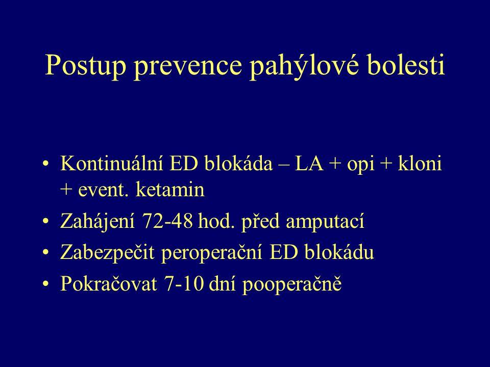 Postup prevence pahýlové bolesti