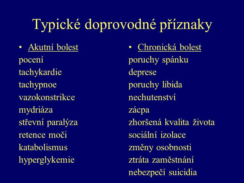 Typické doprovodné příznaky