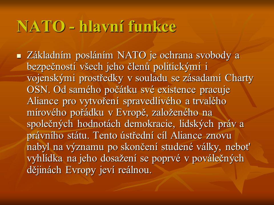 NATO - hlavní funkce