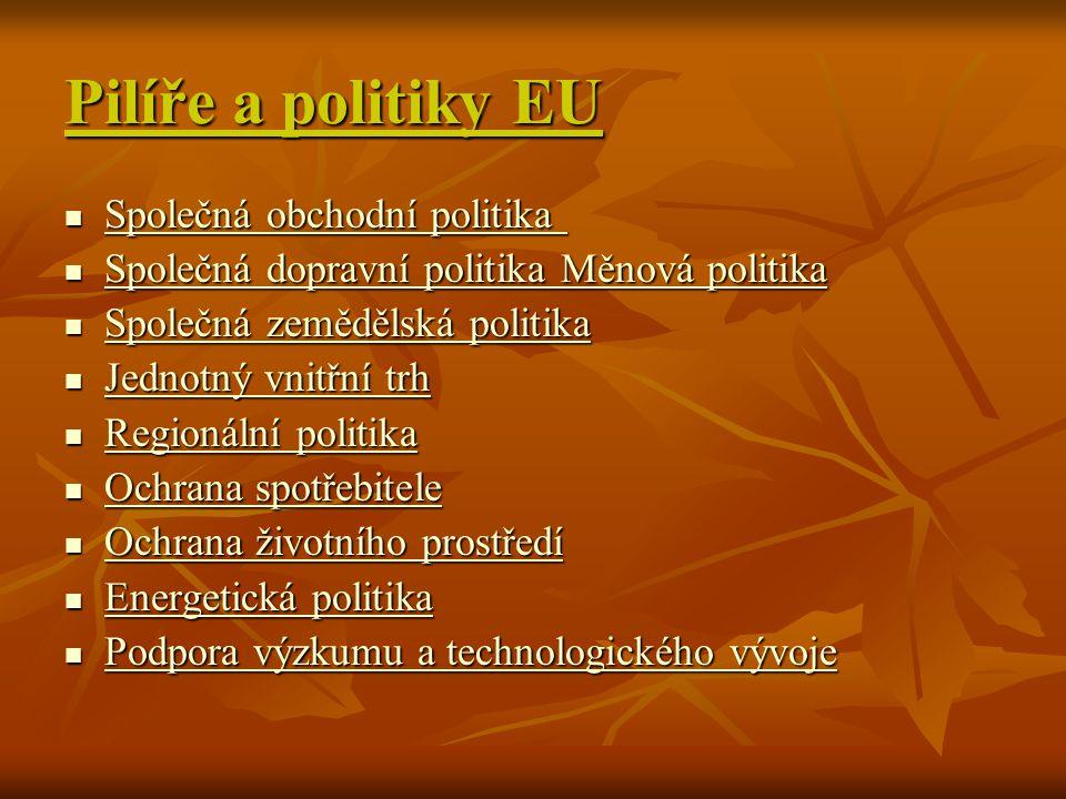 Pilíře a politiky EU Společná obchodní politika