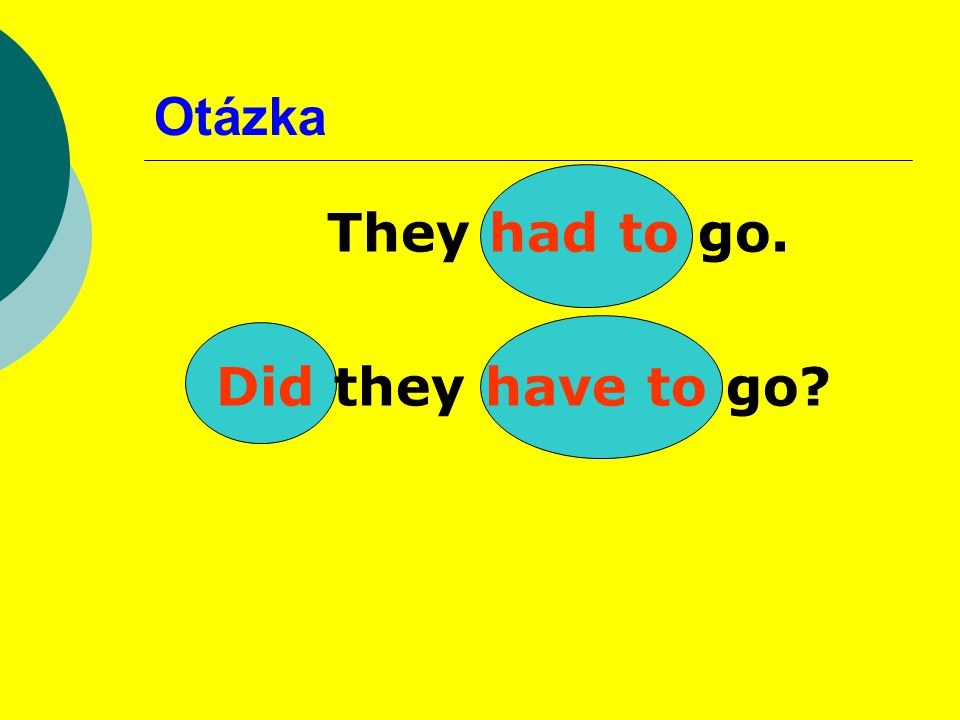Otázka They had to go. Did they have to go