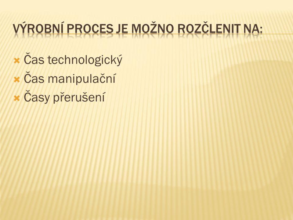 Výrobní proces je možno rozčlenit na: