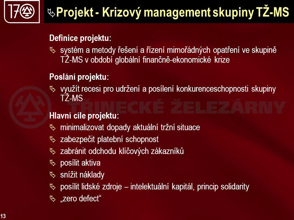 Projekt - Krizový management skupiny TŽ-MS