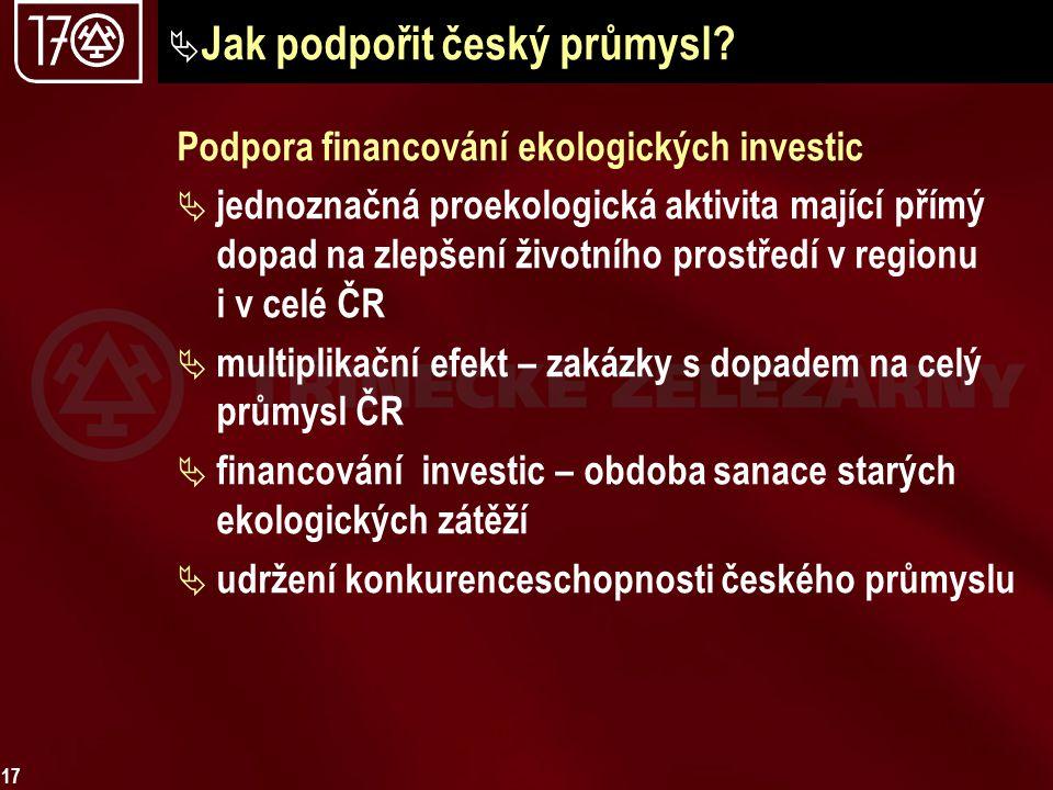 Jak podpořit český průmysl