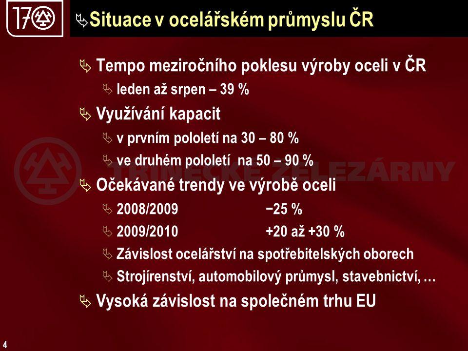 Situace v ocelářském průmyslu ČR