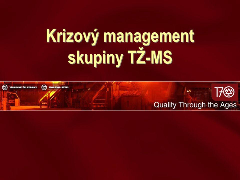 Krizový management skupiny TŽ-MS