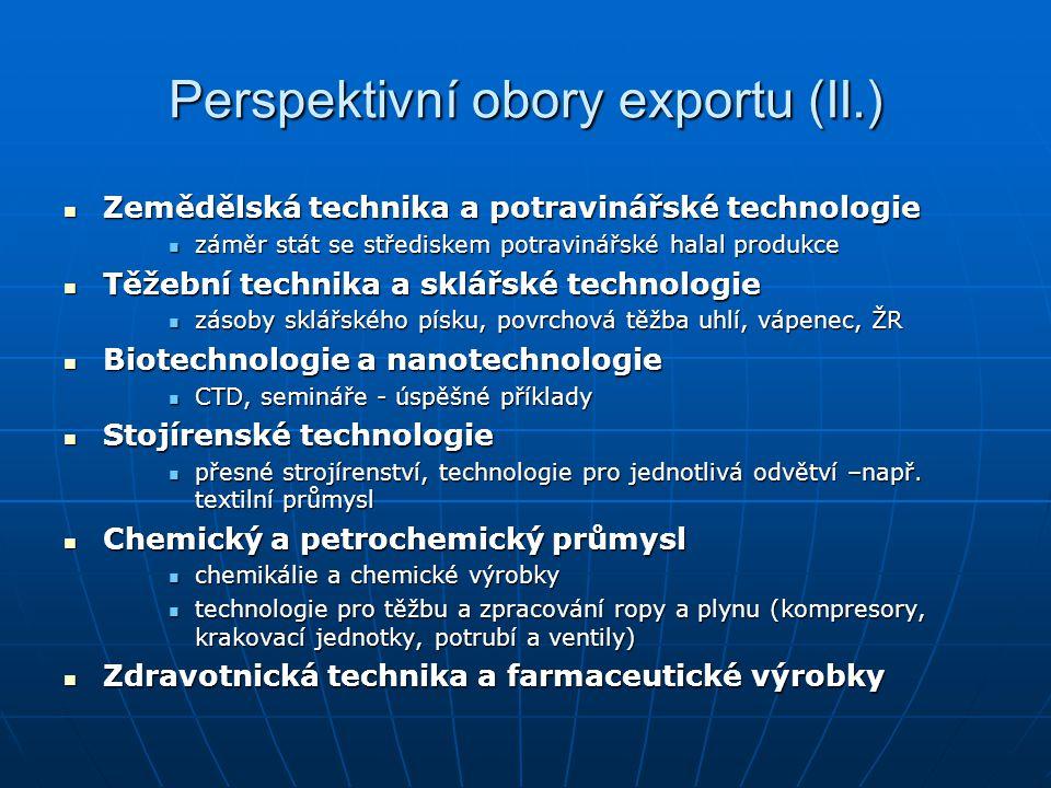 Perspektivní obory exportu (II.)