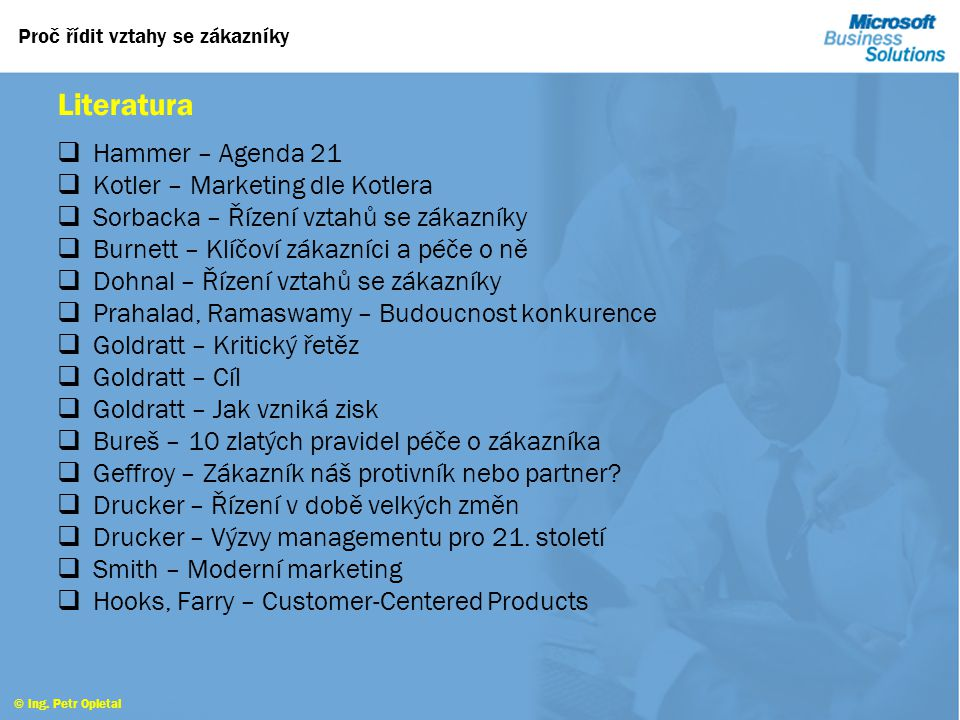 Literatura Hammer – Agenda 21 Kotler – Marketing dle Kotlera