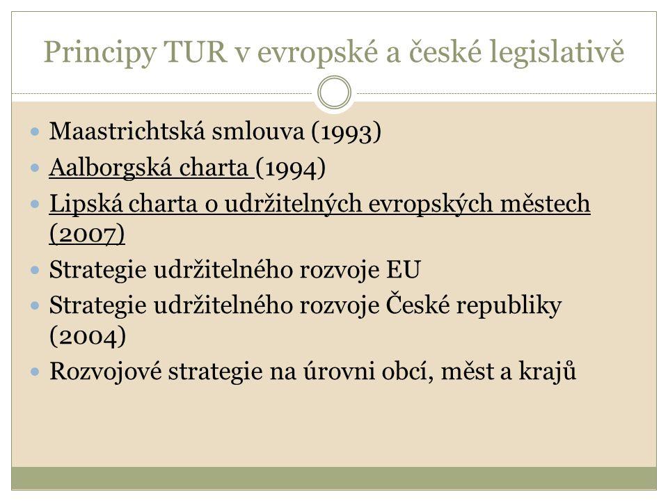 Principy TUR v evropské a české legislativě