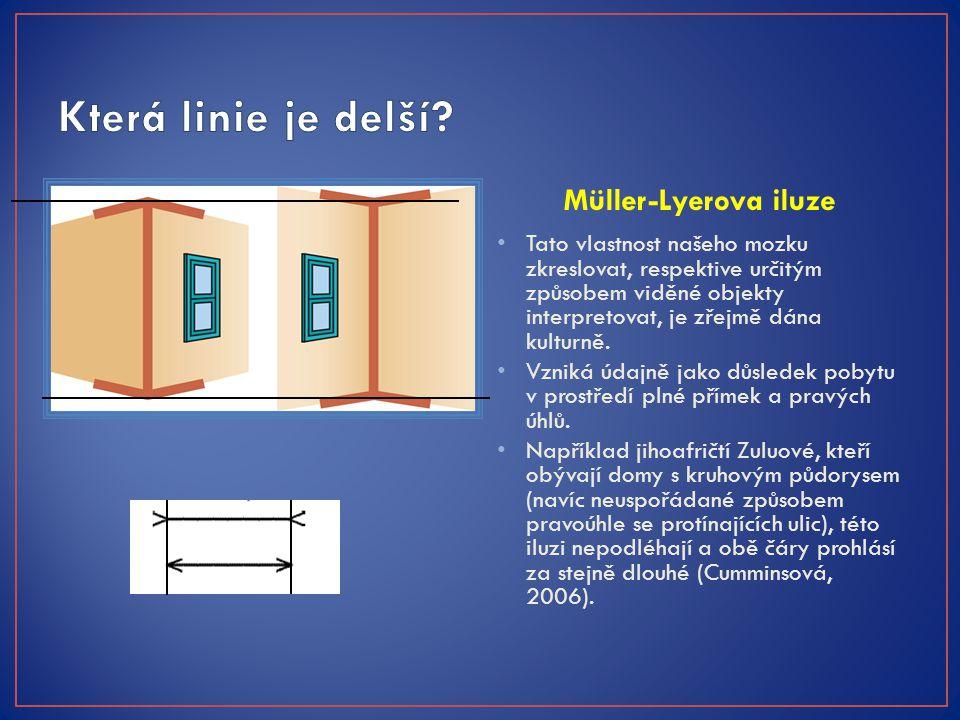 Která linie je delší Müller-Lyerova iluze