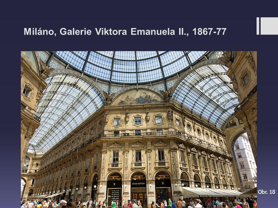Miláno, Galerie Viktora Emanuela II., 1867-77