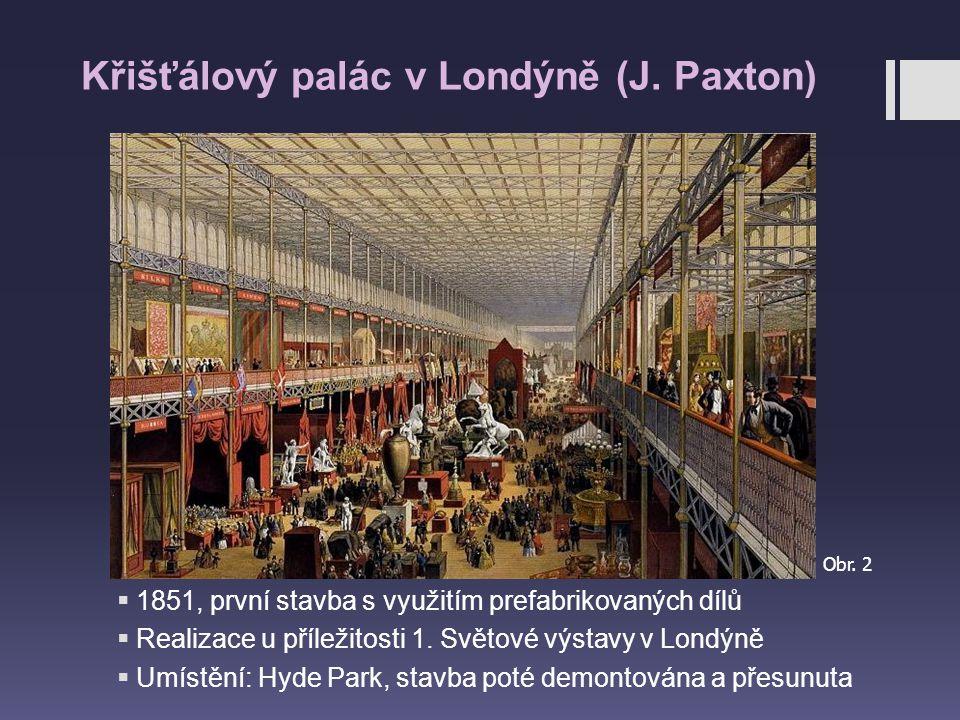 Křišťálový palác v Londýně (J. Paxton)