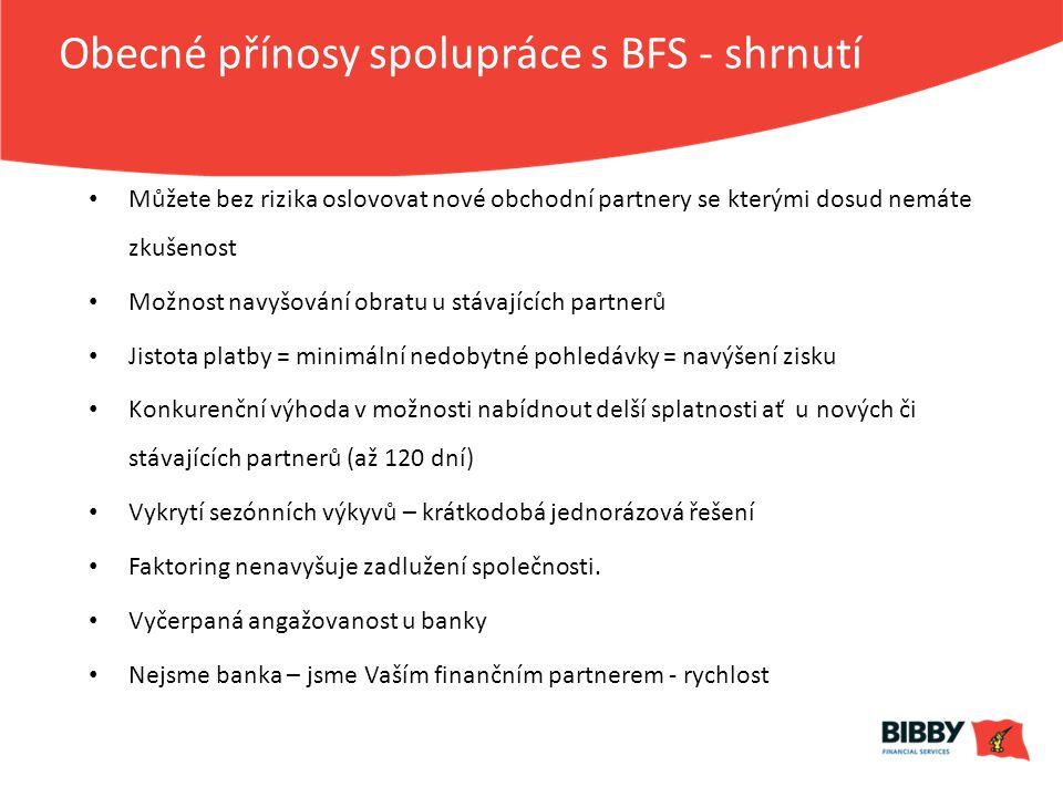 Obecné přínosy spolupráce s BFS - shrnutí