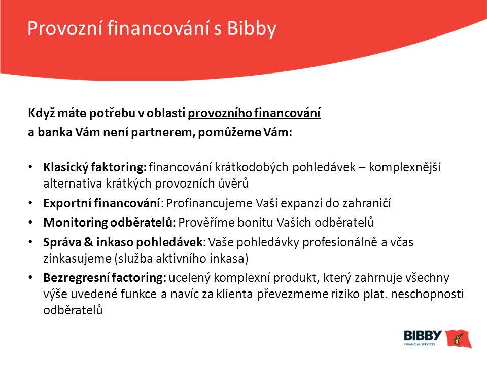 Provozní financování s Bibby