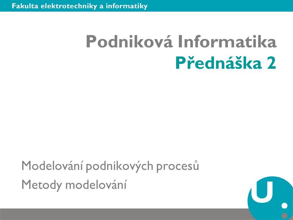Podniková Informatika Přednáška 2