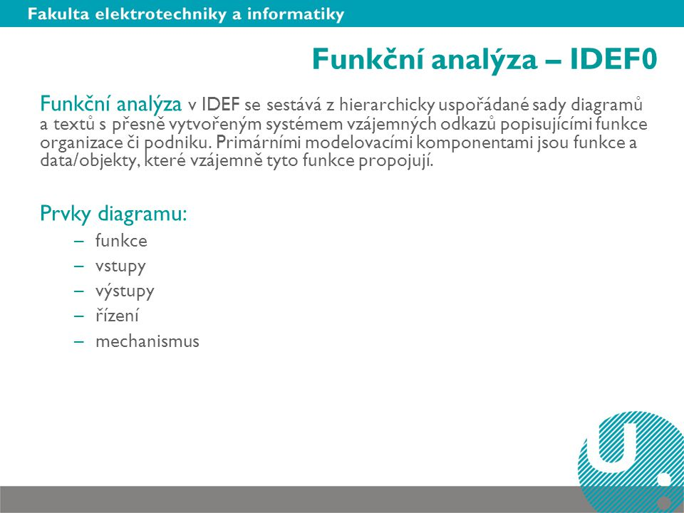 Funkční analýza – IDEF0