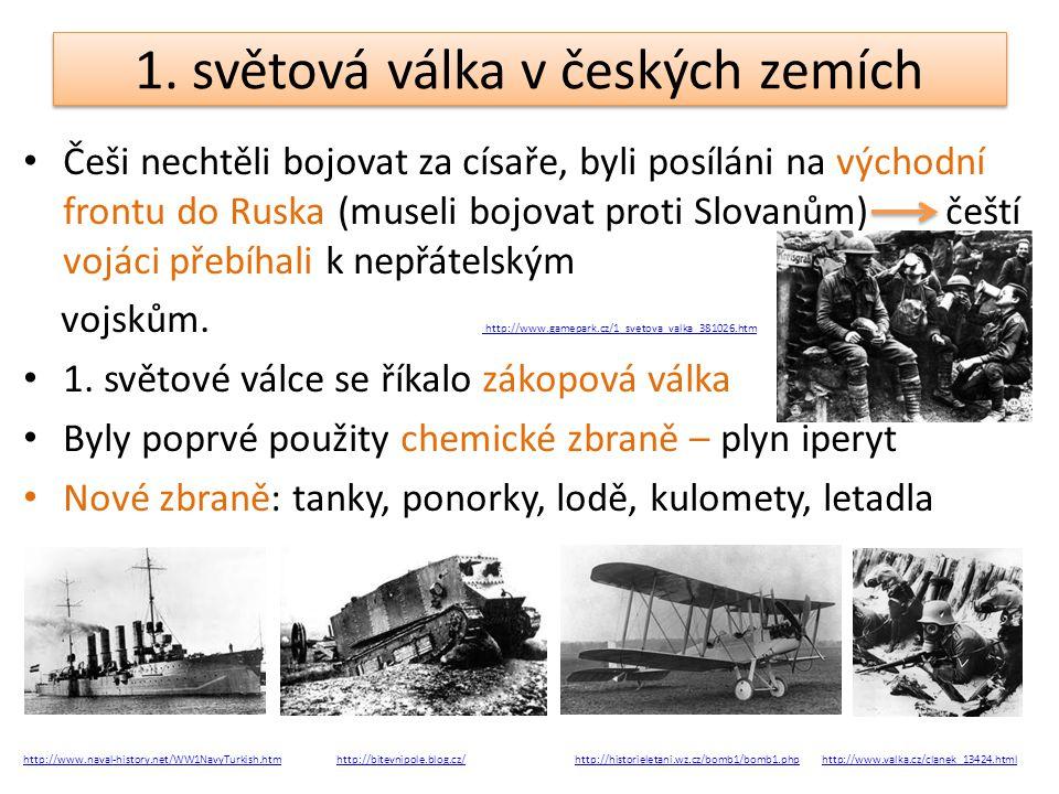 1. světová válka v českých zemích