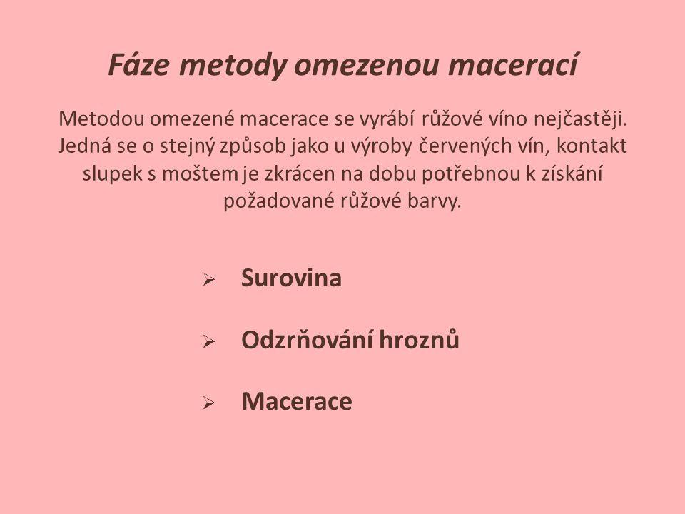 Fáze metody omezenou macerací