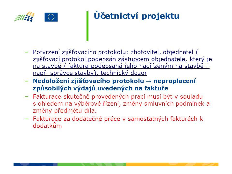 Účetnictví projektu