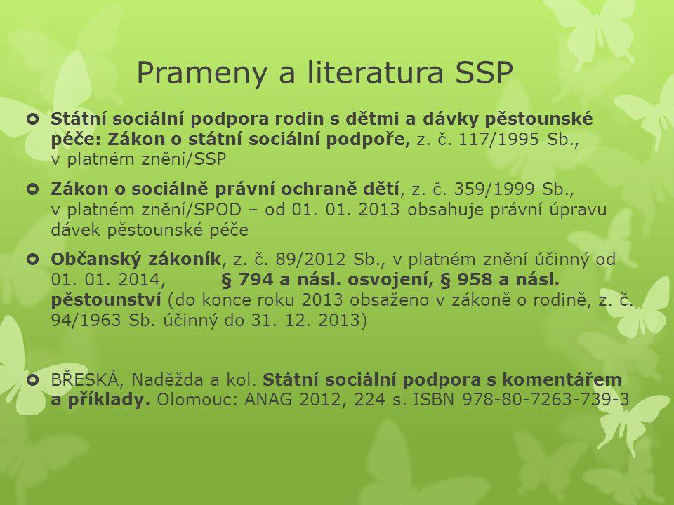 Prameny a literatura SSP