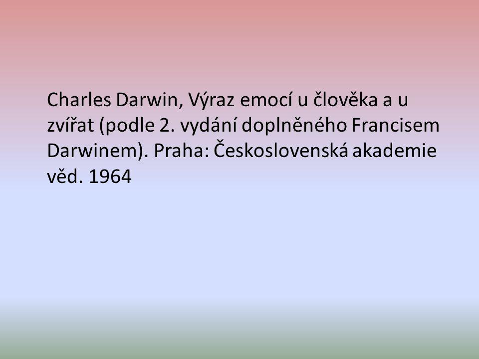 Charles Darwin, Výraz emocí u člověka a u zvířat (podle 2