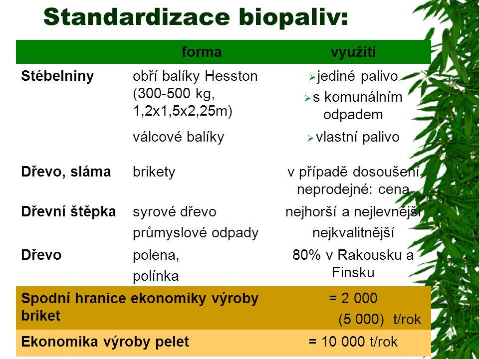 Standardizace biopaliv: