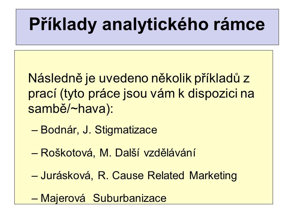 Příklady analytického rámce