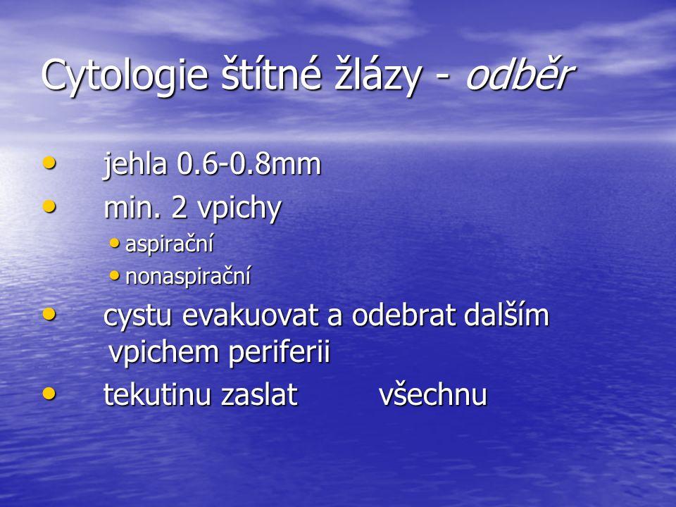 Cytologie štítné žlázy - odběr