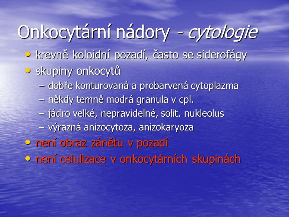 Onkocytární nádory - cytologie