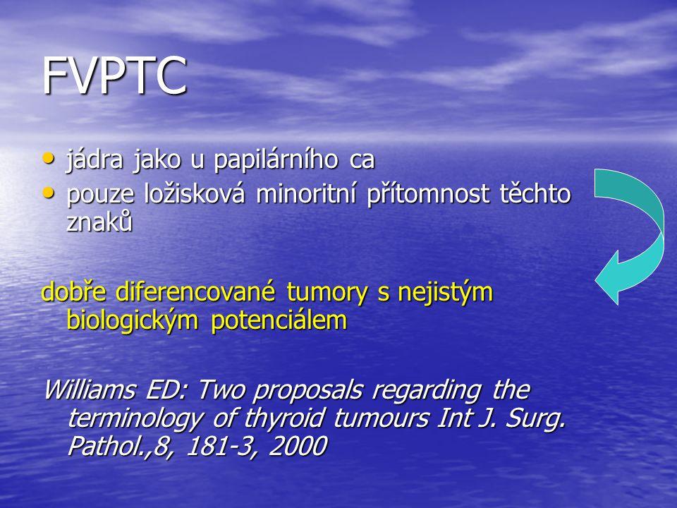 FVPTC jádra jako u papilárního ca